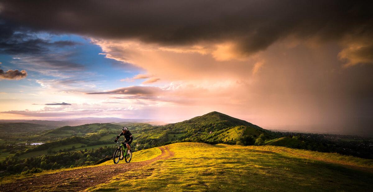 Malvern Hills Copyright Cyclist Jan Sedlacek