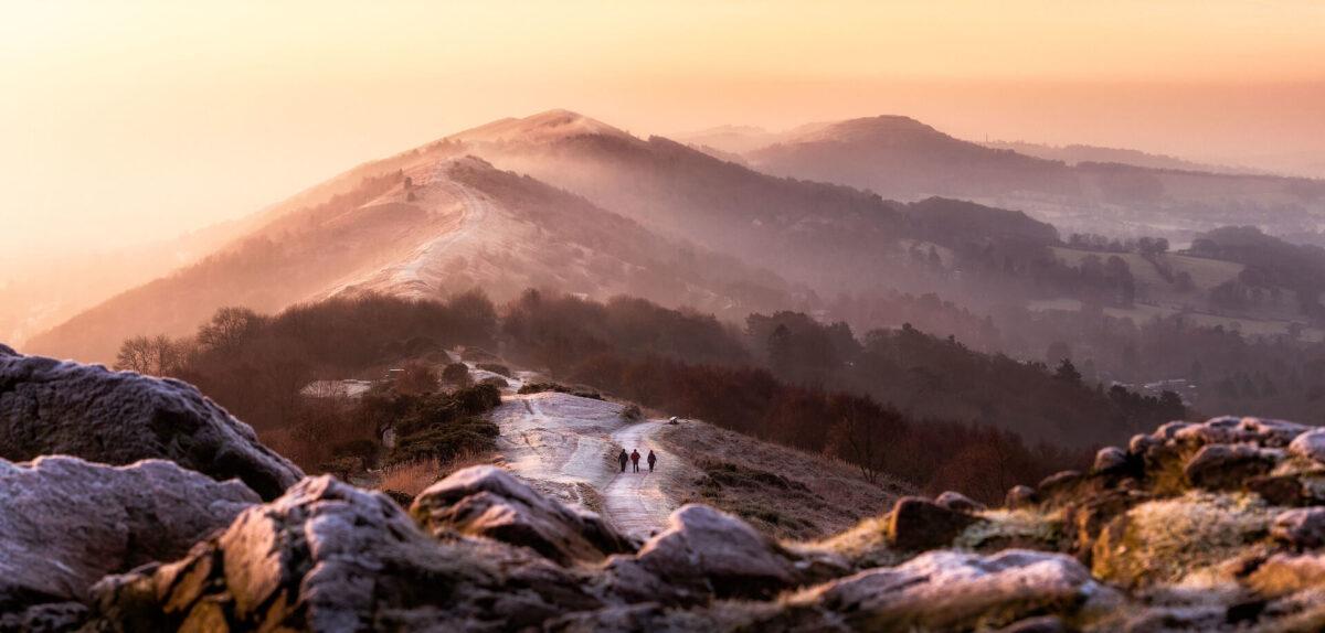 Malvern Hills Winter Walkers Copyright Jan Sedlacek