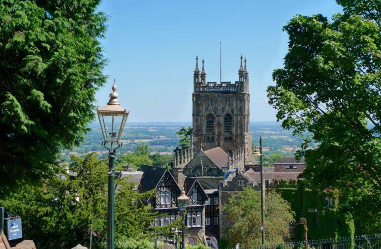 Malvern Priory View