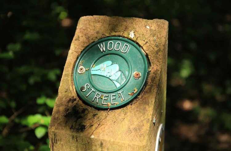 Wood Street Sign