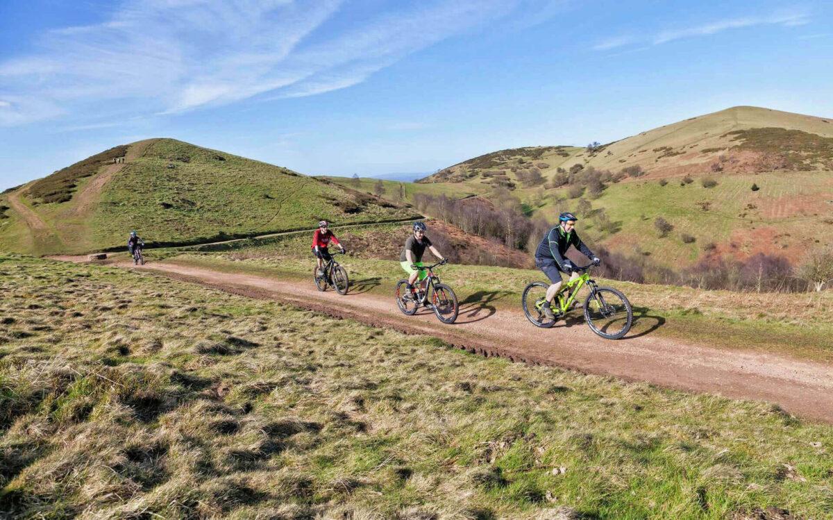 Cyclists on Sugar Loaf Hill