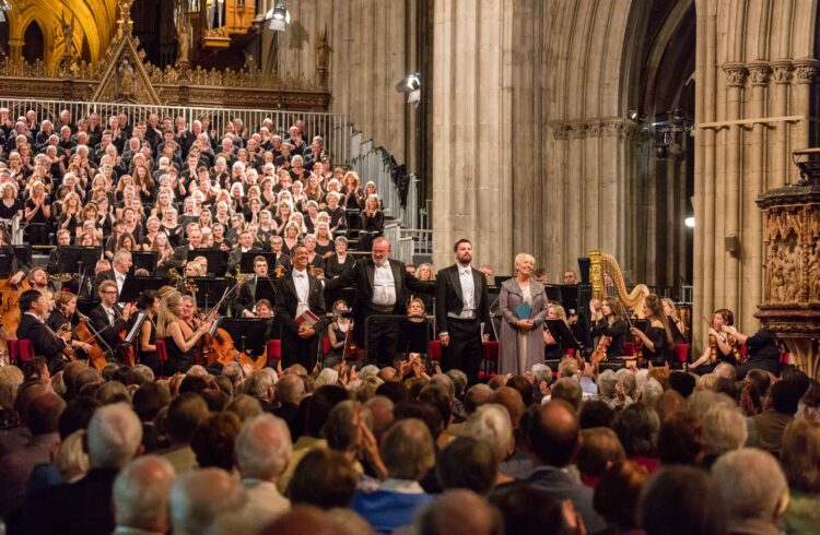 3 Choirs Festival- choir singing in Worcester Cathedral Credit Michael Whitefoot