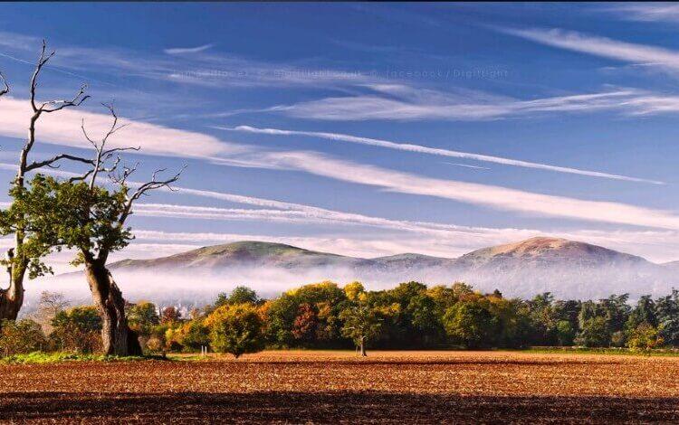 Malvern Hills in Autumn with mist by Jan Sedlacek
