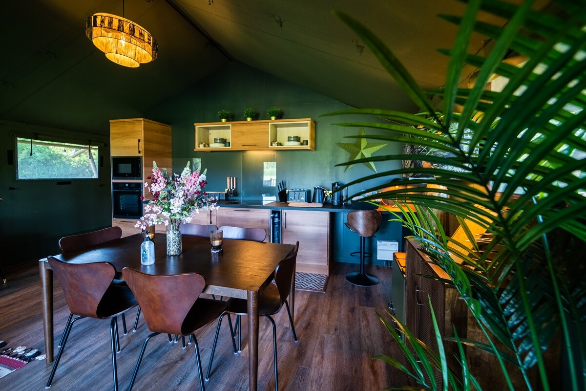 Swallowfields Glamping - interior